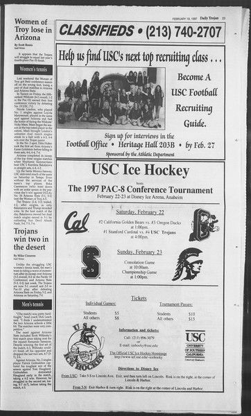 Daily Trojan, Vol. 130, No. 26, February 19, 1997