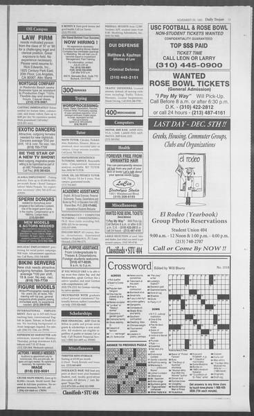Daily Trojan, Vol. 126, No. 59, November 29, 1995