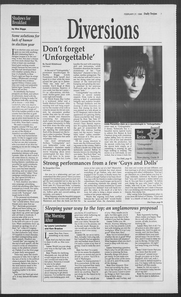 Daily Trojan, Vol. 127, No. 30, February 27, 1996