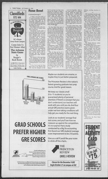 Daily Trojan, Vol. 126, No. 21, September 29, 1995