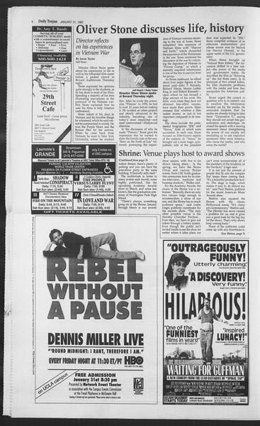 Daily Trojan, Vol. 130, No. 15, January 31, 1997