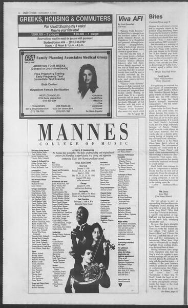 Daily Trojan, Vol. 126, No. 43, November 01, 1995