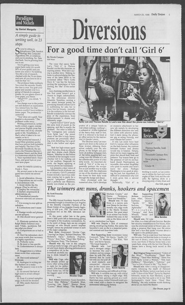 Daily Trojan, Vol. 127, No. 43, March 25, 1996