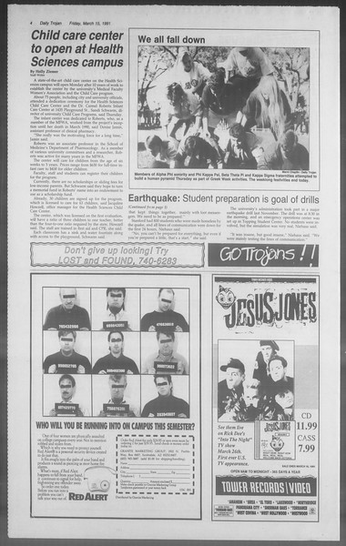 Daily Trojan, Vol. 114, No. 44, March 15, 1991