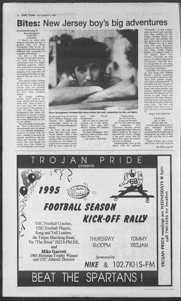 Daily Trojan, Vol. 126, No. 4, September 06, 1995