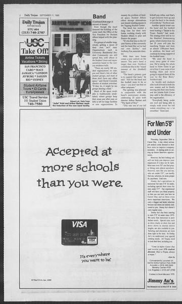 Daily Trojan, Vol. 126, No. 7, September 11, 1995