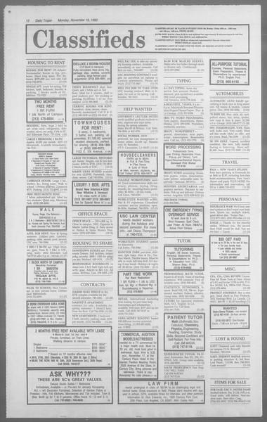 Daily Trojan, Vol. 113, No. 54, November 19, 1990