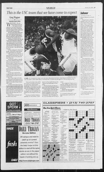 Daily Trojan, Vol. 157, No. 6, January 19, 2006