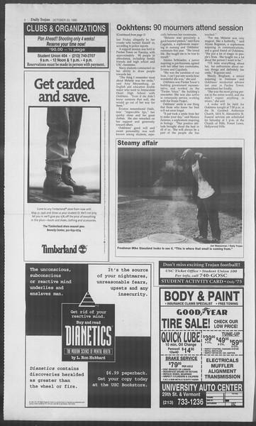 Daily Trojan, Vol. 126, No. 35, October 20, 1995