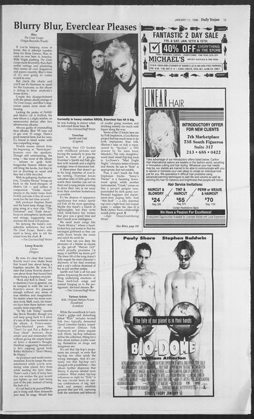 Daily Trojan, Vol. 127, No. 1, January 11, 1996