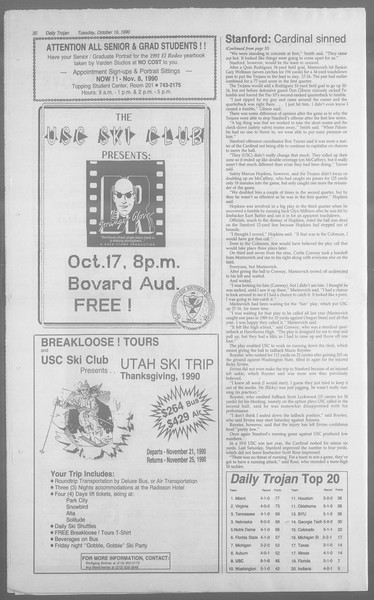 Daily Trojan, Vol. 113, No. 30, October 16, 1990