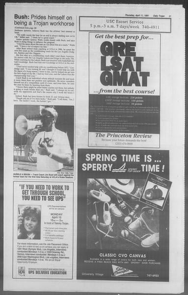 Daily Trojan, Vol. 114, No. 57, April 11, 1991