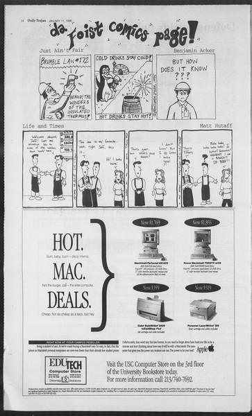 Daily Trojan, Vol. 127, No. 1, January 11, 1996