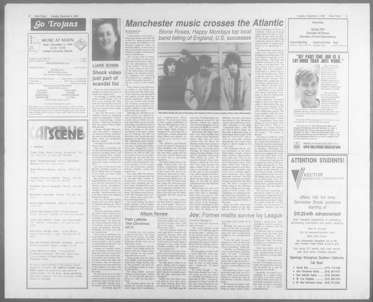 Daily Trojan, Vol. 113, No. 62, December 04, 1990