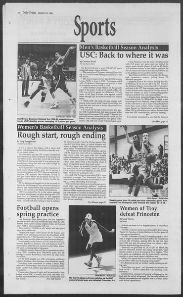 Daily Trojan, Vol. 127, No. 40, March 20, 1996