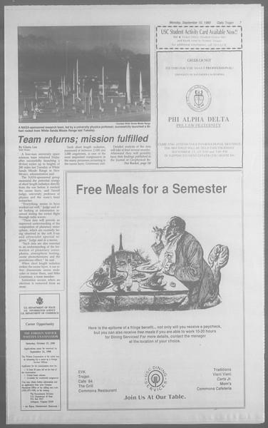 Daily Trojan, Vol. 113, No. 5, September 10, 1990
