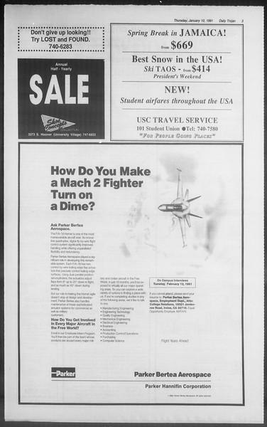 Daily Trojan, Vol. 114, No. 2, January 10, 1991