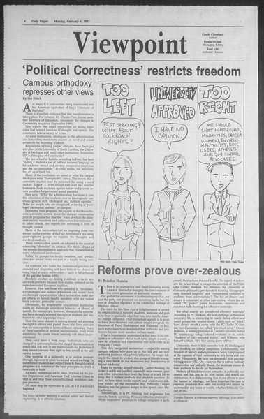 Daily Trojan, Vol. 114, No. 17, February 04, 1991