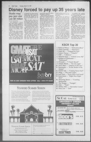 Daily Trojan, Vol. 114, No. 46, March 19, 1991