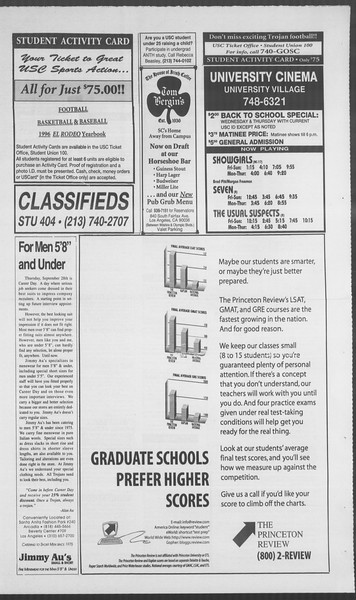 Daily Trojan, Vol. 126, No. 16, September 22, 1995