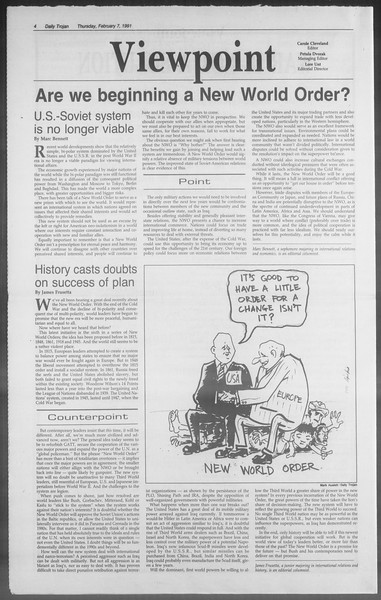 Daily Trojan, Vol. 114, No. 20, February 07, 1991