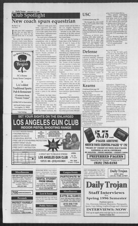Daily Trojan, Vol. 127, No. 9, January 25, 1996