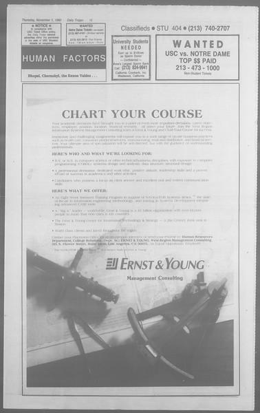 Daily Trojan, Vol. 113, No. 42, Novembe2 01, 1990