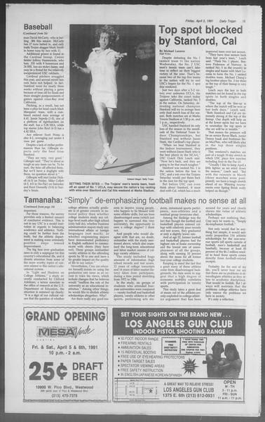 Daily Trojan, Vol. 114, No. 53, April 05, 1991