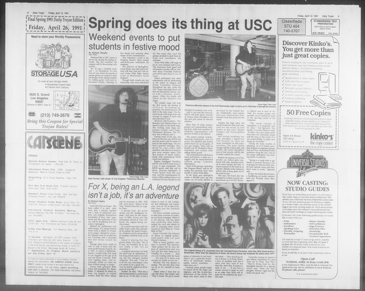 Daily Trojan, Vol. 114, No. 58, April 12, 1991