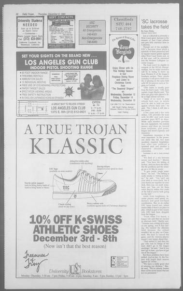 Daily Trojan, Vol. 113, No. 64, December 06, 1990