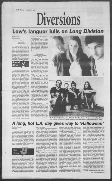 Daily Trojan, Vol. 126, No. 24, October 04, 1995