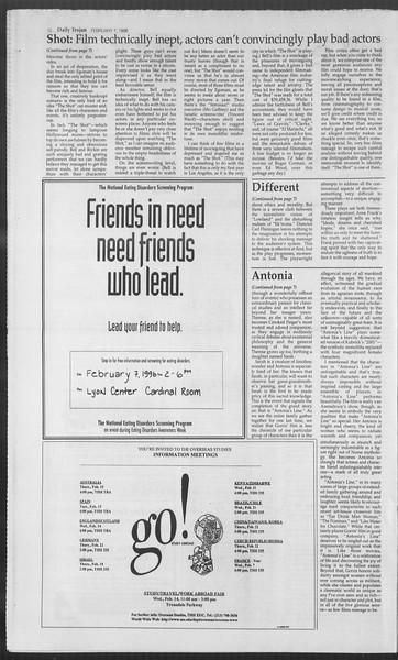 Daily Trojan, Vol. 127, No. 18, February 07, 1996