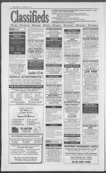 Daily Trojan, Vol. 126, No. 56, November 20, 1995