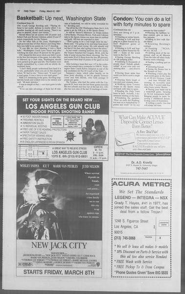 Daily Trojan, Vol. 114, No. 39, March 08, 1991