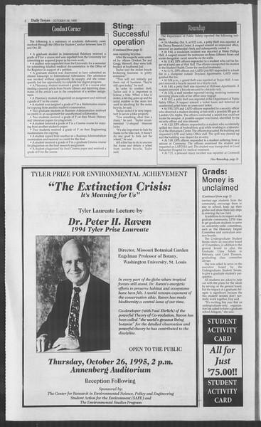 Daily Trojan, Vol. 126, No. 39, October 26, 1995