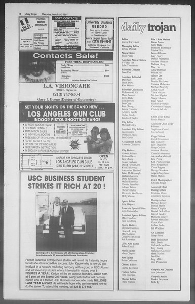 Daily Trojan, Vol. 114, No. 43, March 14, 1991