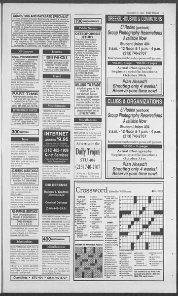 Daily Trojan, Vol. 126, No. 31, October 16, 1995