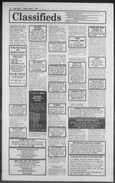 Daily Trojan, Vol. 114, No. 3, January 11, 1991