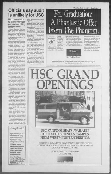 Daily Trojan, Vol. 114, No. 43, March 14, 1991
