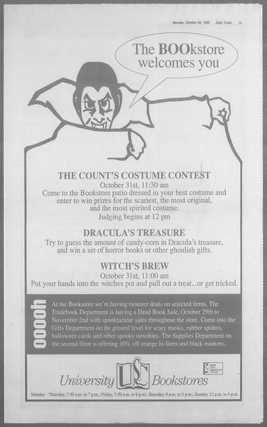 Daily Trojan, Vol. 113, No. 39, October 29, 1990