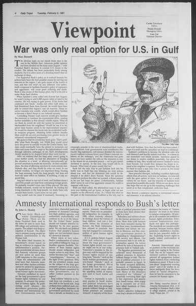 Daily Trojan, Vol. 114, No. 18, February 05, 1991