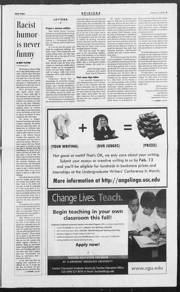 Daily Trojan, Vol. 157, No. 16, February 02, 2006