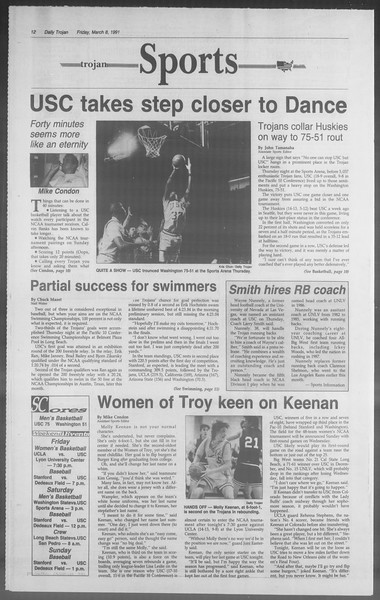 Daily Trojan, Vol. 114, No. 39, March 08, 1991