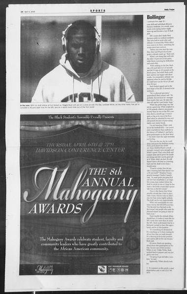 Daily Trojan, Vol. 157, No. 50, April 04, 2006