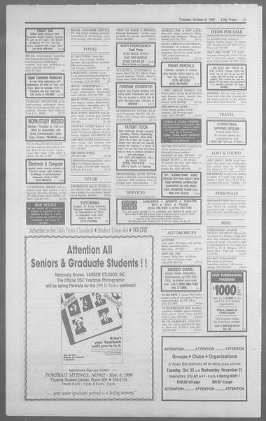 Daily Trojan, Vol. 113, No. 26, October 09, 1990