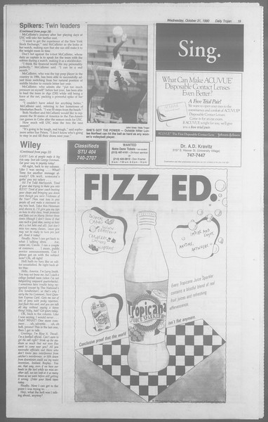 Daily Trojan, Vol. 113, No. 41, October 31, 1990