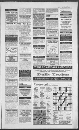 Daily Trojan, Vol. 127, No. 50, April 03, 1996