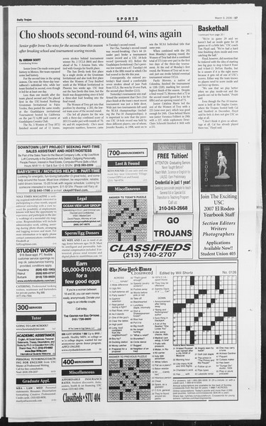 Daily Trojan, Vol. 157, No. 39, March 09, 2006