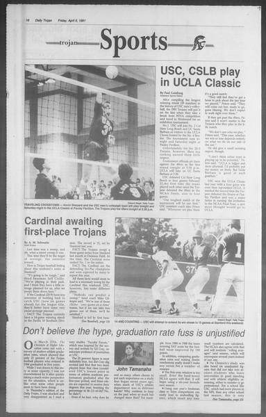 Daily Trojan, Vol. 114, No. 53, April 05, 1991