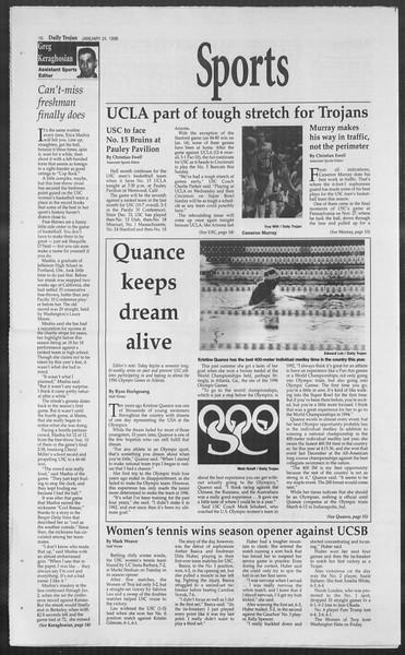 Daily Trojan, Vol. 127, No. 8, January 24, 1996